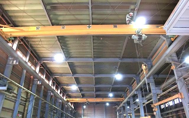 店舗・工場における電気工事